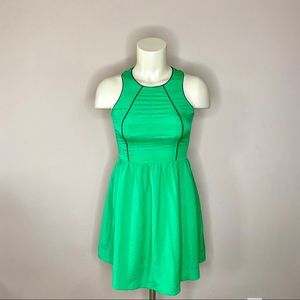 MM Couture Sleeveless Green Fit n Flare Dress